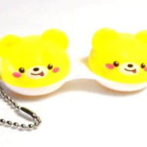 Contact Lens Case Keychain Bear