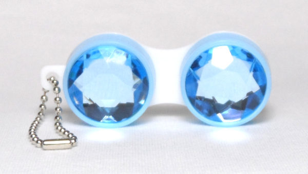 Keychain Diamond Blue Contact Lens Case