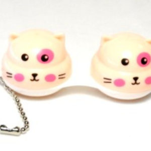 Contact Lens Case Keychain Cat