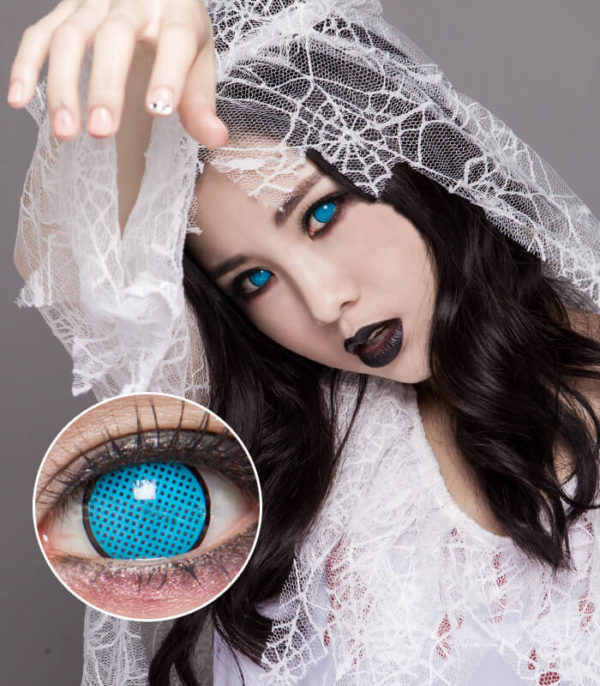 DUEBA COSPLAY CYAN MESH BLACK RIM HALLOWEEN CONTACT LENS