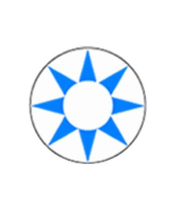 DUEBA COSPLAY LENS BLUE SUN WHITE HALLOWEEN CONTACT LENS