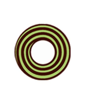 DUEBA COSPLAY LENS BROWN GREEN SPIRAL HALLOWEEN CONTACT LENS