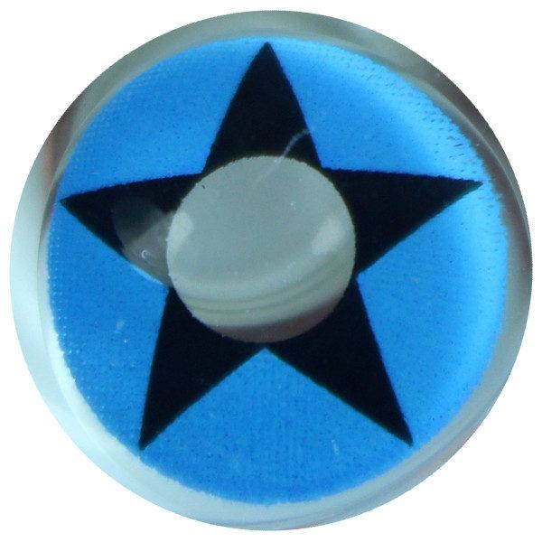 DUEBA COSPLAY LENS BLUE COWBOY STAR HALLOWEEN CONTACT LENS