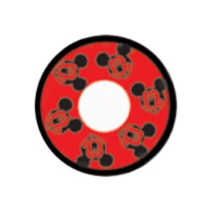 DUEBA COSPLAY LENS RED MICKY MOUSE HALLOWEEN CONTACT LENS
