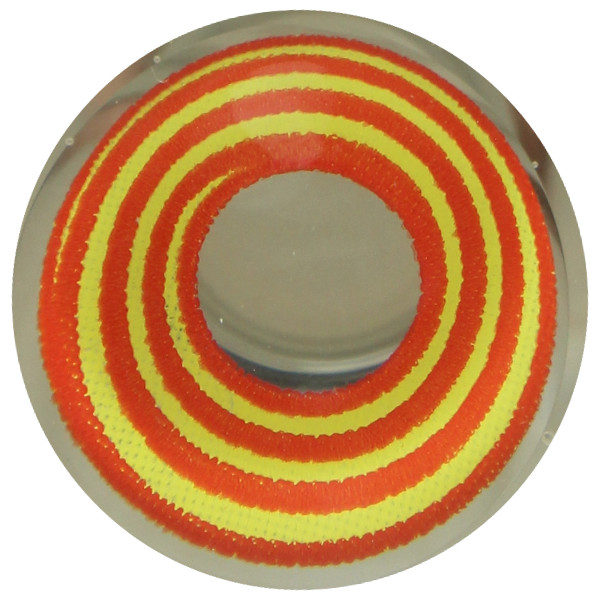 DUEBA COSPLAY LENS ORANGE RED SPIRAL HALLOWEEN CONTACT LENS
