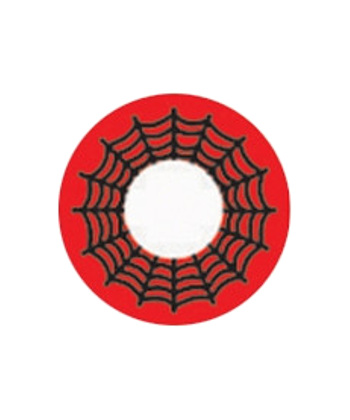 DUEBA COSPLAY LENS RED SPIDER WEB HALLOWEEN CONTACT LENS