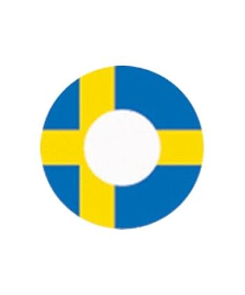 DUEBA COSPLAY LENS SWEDEN FLAG HALLOWEEN CONTACT LENS