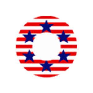 DUEBA COSPLAY LENS USA FLAG HALLOWEEN CONTACT LENS