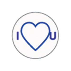 DUEBA COSPLAY LENS BLUE I HEART YOU WHITE HALLOWEEN CONTACT LENS