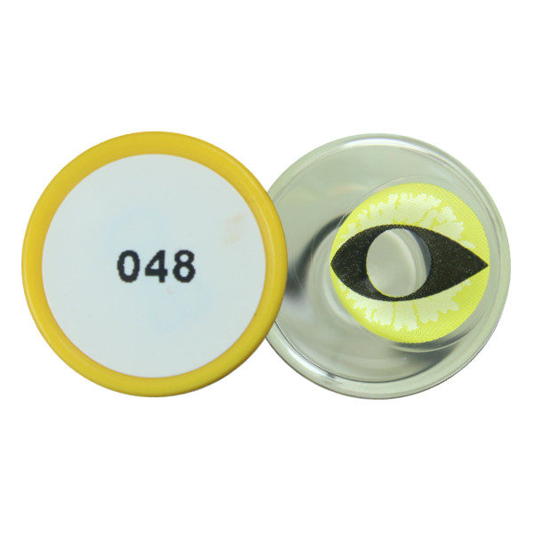 DUEBA COSPLAY LENS YELLOW MAD CAT EYES HALLOWEEN CONTACT LENS