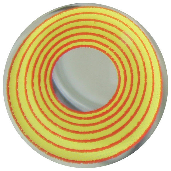 DUEBA COSPLAY LENS YELLOW RED SPIRAL HALLOWEEN CONTACT LENS