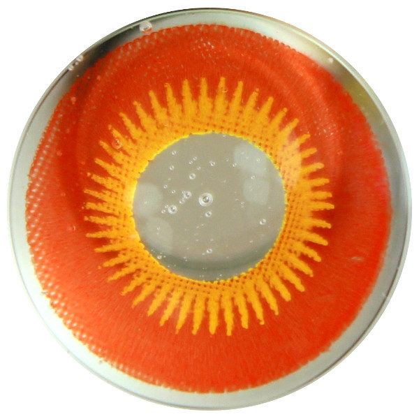 DUEBA COSPLAY LENS YELLOW RED SUN HALLOWEEN CONTACT LENS