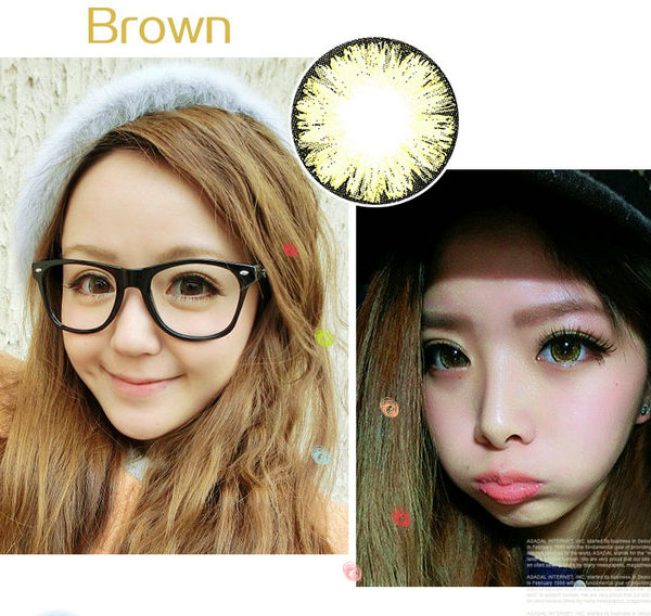 DUEBA ICE FLOWER GOLD CONTACT LENS