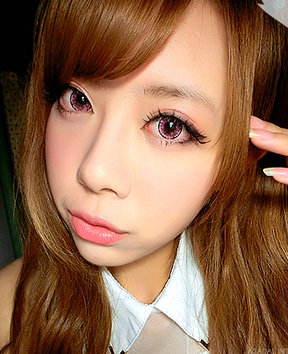 DUEBA ICE FLOWER VIOLET CONTACT LENS
