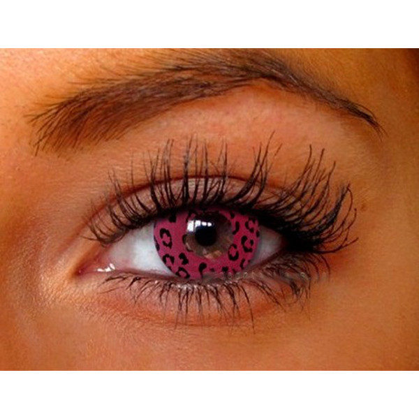 DUEBA FANCY PINK LEOPARD HALLOWEEN CONTACT LENS