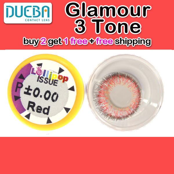 DUEBA GLAMOUR RED CONTACT LENS