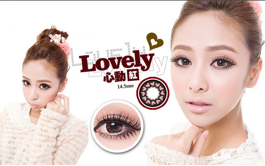 DUEBA VALENTINE RED CONTACT LENS