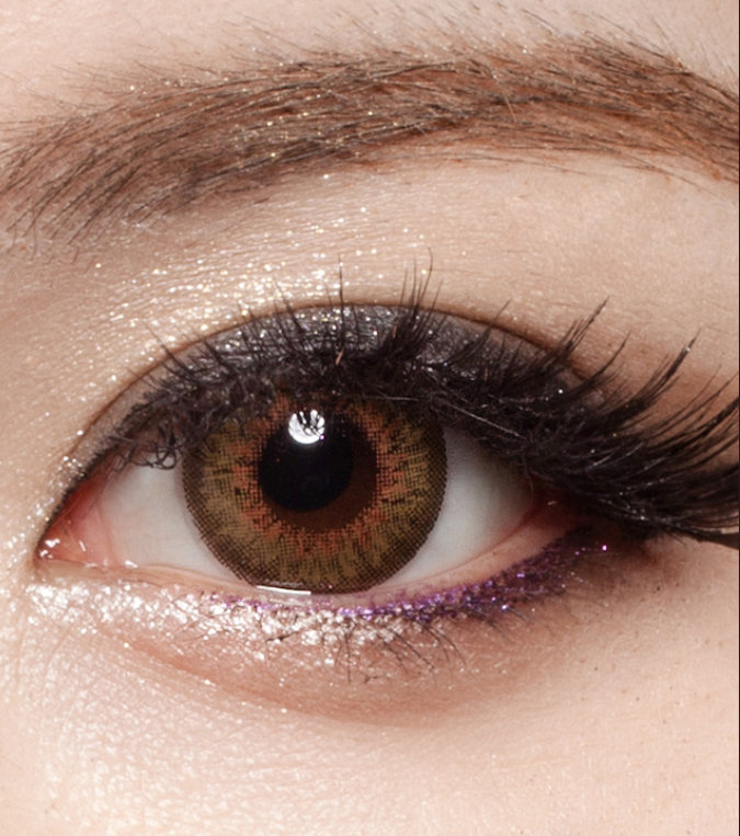 DUEBA PUFFY BROWN CONTACT LENS