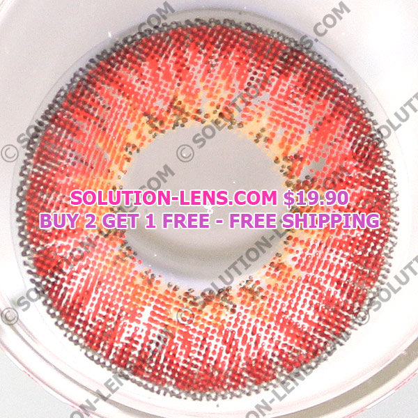 DUEBA PUFFY RED CONTACT LENS