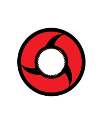 DUEBA CRAZY RED NARUTO HALLOWEEN CONTACT LENS