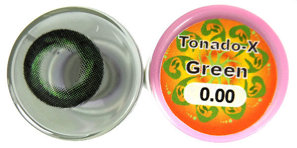 DUEBA TORNADO-X GREEN CONTACT LENS