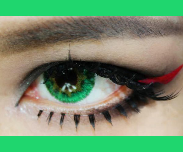 DUEBA VIRGIN GREEN CONTACT LENS