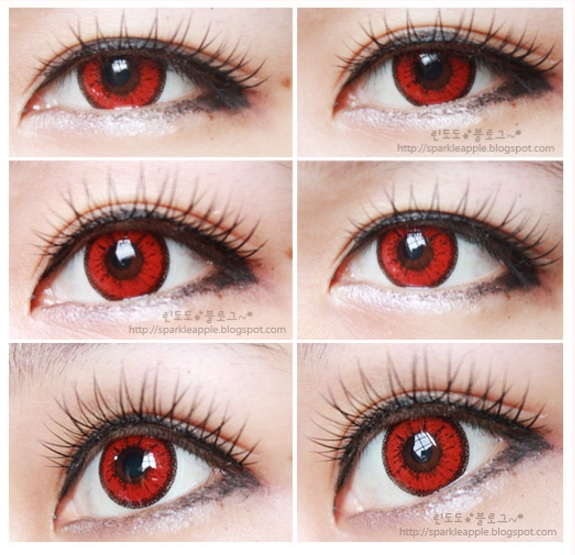 GEO COLOR NINE RED AN-A48 RED CONTACT LENS