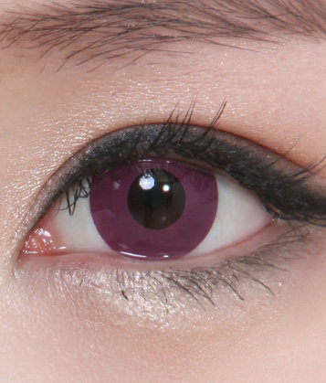 GEO CP-F6 CRAZY LENS SOLID PURPLE EYES BRIDE OF DRACULA HALLOWEEN CONTACT LENS