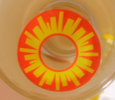 GEO SF-02 CRAZY LENS HOT SUN SPECIAL EFFECT HALLOWEEN CONTACT LENS