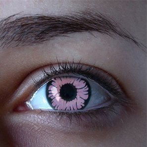 GEO SF-19 CRAZY LENS PINK ANIMATION MARVEL CYBERMANCER HALLOWEEN CONTACT LENS
