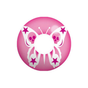 GEO SF-29 CRAZY LENS PINK BUTTERFLY SKULL HALLOWEEN CONTACT LENS