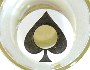 GEO SF-40 CRAZY LENS ACE OF SPADES ALICE IN WONDERLAND HALLOWEEN CONTACT LENS