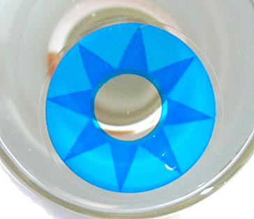 GEO SF-76 CRAZY LENS BLUE STAR JOKER HALLOWEEN CONTACT LENS