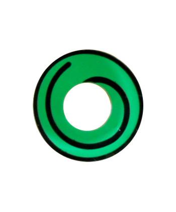 GEO SF-80 CRAZY LENS GREEN HYPNOTIZE HALLOWEEN CONTACT LENS