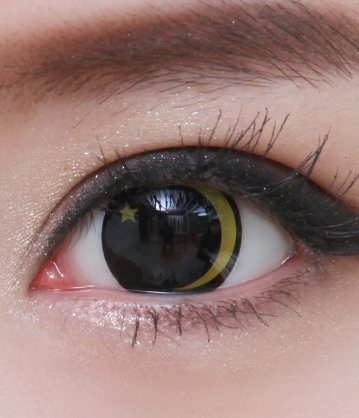 GEO SF-67 CRAZY LENS MOON AND STAR HALLOWEEN CONTACT LENS