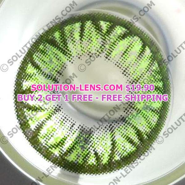 GEO FLOWER SUNFLOWER GREEN WFL-A23 GREEN CONTACT LENS