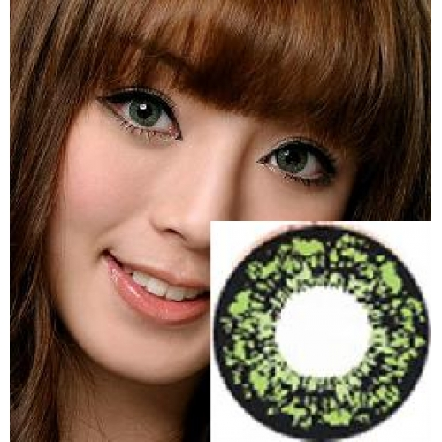 GEO PANSY GREEN WT-C63 GREEN CONTACT LENS