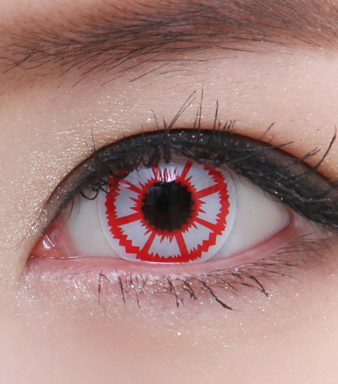 GEO SF-11 CRAZY LENS RED BLOOD ZOMBIE HALLOWEEN CONTACT LENS ...
