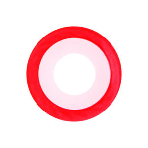 GEO SF-65 CRAZY LENS WHITE CONTACTS RED RIM HALLOWEEN CONTACT LENS