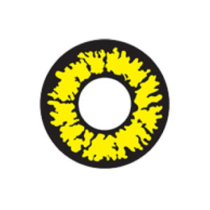 GEO SF-73 CRAZY LENS FIERY YELLOW EYES TWILIGHT VAMPIRE HALLOWEEN CONTACT LENS