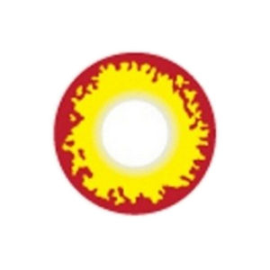 GEO SF-75 CRAZY LENS FLAME RED YELLOW VAMPIRE KNIGHT HALLOWEEN CONTACT LENS