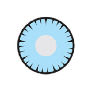 GEO SF-14 CRAZY LENS BLUE SPIKED HALLOWEEN CONTACT LENS