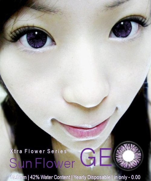 GEO WFL-A21 SUNFLOWER VIOLET CONTACT LENS