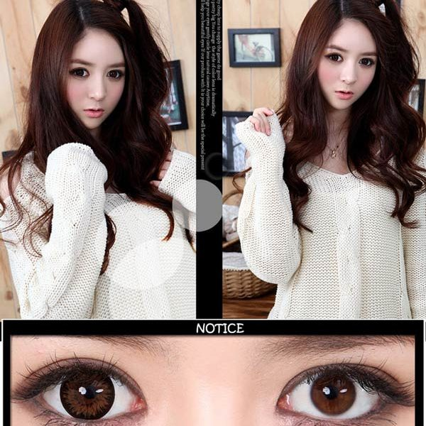 GEO XTRA ASTER WT-C14 BROWN CONTACT LENS