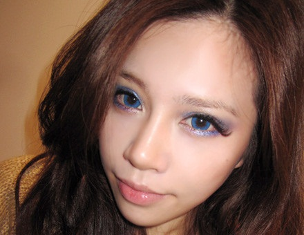 GEO LAVENDER BLUE WFL-A52 BLUE CONTACT LENS