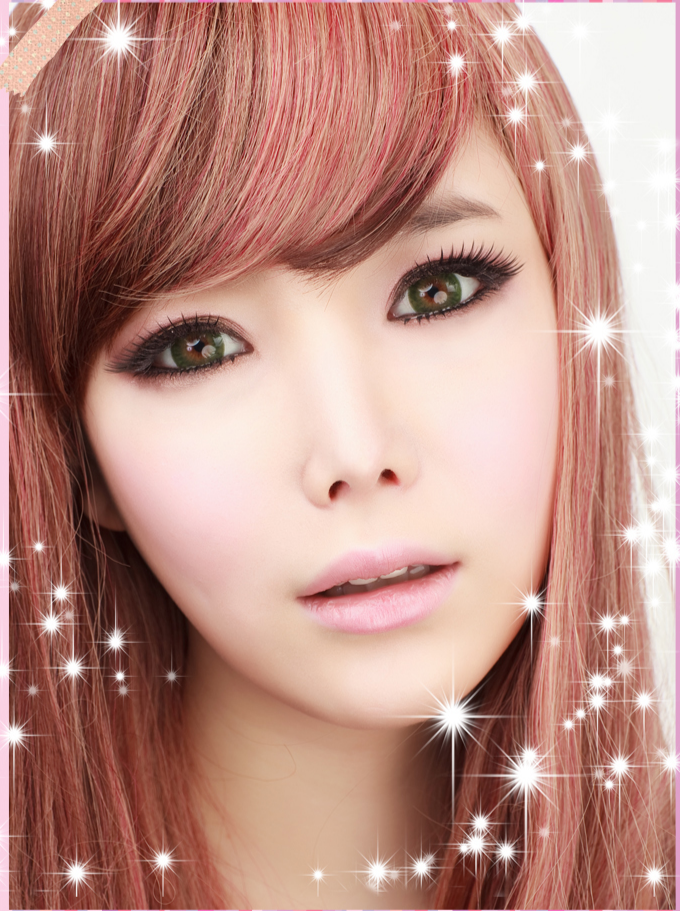 GEO PRINCESS GREEN WAN-A83 GREEN CONTACT LENS