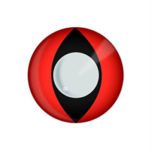 GEO SF-R05 CRAZY LENS RED CAT EYES HALLOWEEN CONTACT LENS