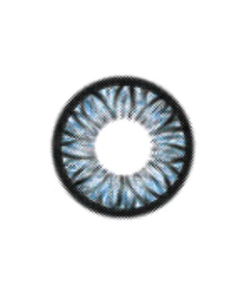 GEO FLOWER SUNFLOWER BLUE WFL-A22 XTRA SIZE COLORED 2 TONE LENSES