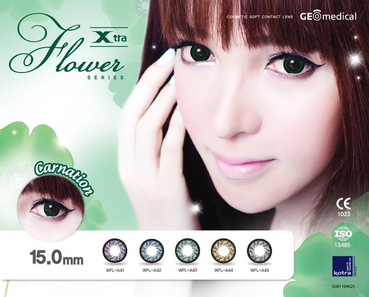 GEO CARNATION GREEN WFL-A43 GREEN CONTACT LENS