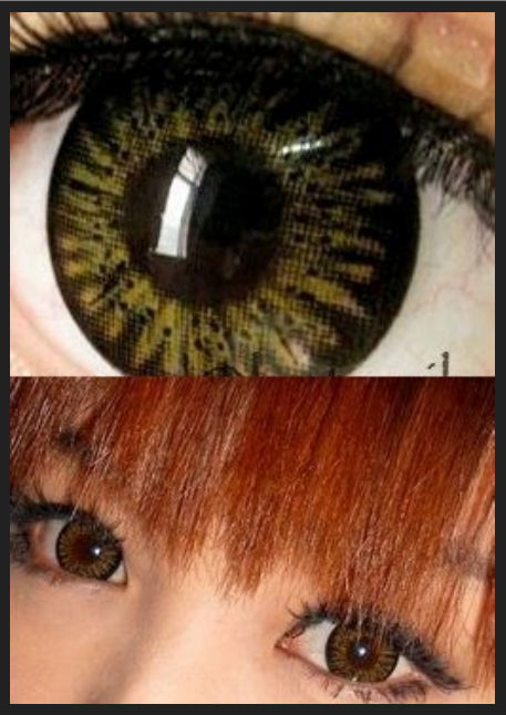 GEO PUFFY MELON BROWN WT-B24 BROWN CONTACT LENS